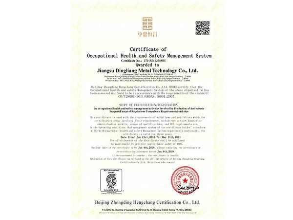 鼎梁-职业健康安全管理体系英文版